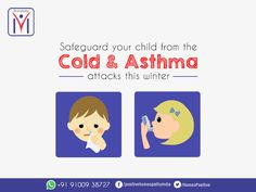 Safeguard your child from the cold and ‪#‎Asthma‬ attacks this winter. ‪#‎Homeopathy‬ is the best choice to enable your kids breathe freely. Consult Positive Homeopathy