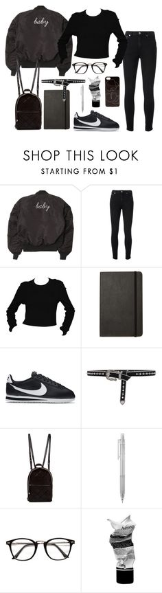 """Untitled #7127"" by ijustlikefashionman ❤ liked on Polyvore featuring Yves Saint Laurent, Moleskine, NIKE, B-Low the Belt, STELLA McCARTNEY, Aesop and Zero Gravity"
