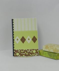 Logon and password notebook with green plaid and by GunnySack, $10.00