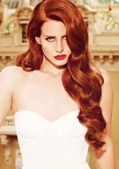 Lana Del Rey red hair pinned with Pinvolve - pinvolve.co