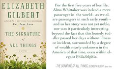 The Signature of All Things - Elizabeth Gilbert