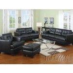 Acme Furniture - Diamond Black Leather 2 Piece Sleeper Sofa - 15061-S   SPECIAL PRICE: $1,249.99