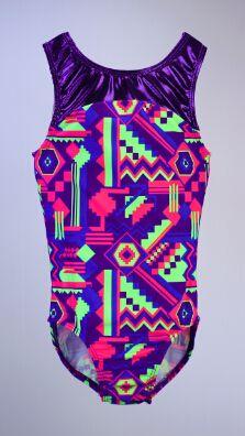Neon Aztec Leotard by Pelle Gymnastics Wear