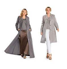 COAT PATTERNS Rain Coat Patterns Floor Length Trench Coats Burda 7240 Size 18 to 30 UNCuT Womens Plus Size Sewing Patterns by DesignRewindFashions on Etsy