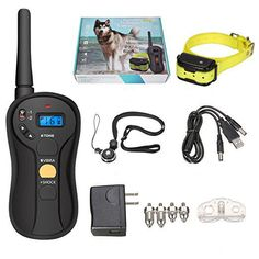 Focuspet Dog Training Collar with 656 Yard Levels, 100 Waterproof and Rechargeable Universal for Small Medium Leash Training, Training Collar, Electric Dog Collar, Pet Trainer, Dog Shock Collar, Pet Dogs, Pets, Aggressive Dog, Dog Barking