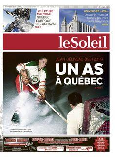 Le Soleil, 4 décembre 2014 (Québec) Décés de Jean Béliveau