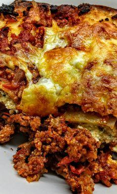 Lasagna de bolognesa, ricotta y mozzarella