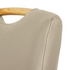 Gestoffeerde stoelen Ameros II (2-delige set) - echt leer - Modder