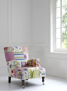 Love this vibrant patchwork chair