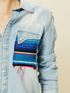 could probably do something like this to a denim shirt....