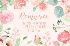 Romantic Floral Clipart set by swiejko on @creativemarket
