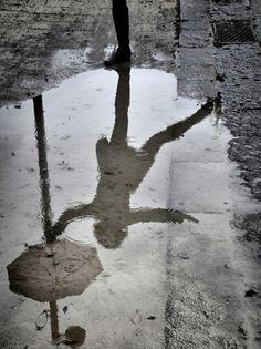 Rainy day reflection  via Olive Alfalfa