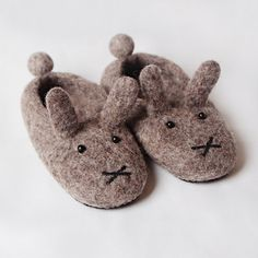 Felted wool slippers, Miffy, little grey rabbit. Very comfy and warm. Handmade in Romania, any size. Felted Wool Slippers, Shoes Handmade, Miffy, Sheep Wool, Romania, Wool Felt, Ava, Bunnies, Rabbit