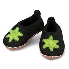 Super lækre filtede uld fusko skridsikker sål fra Green Comfort