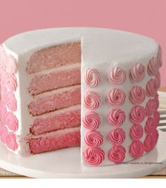 Rose Ombre Cake in 5 Easy Layers