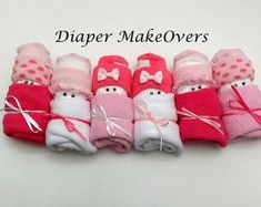 Baby Shower Party Favors - Unique Baby Shower Gifts - Diaper Babies (set of - Baby Shower Decorations Unique Baby Girl Gifts, Diy Baby Gifts, Unique Baby Shower Gifts, Baby Shower Party Favors, Baby Gift Sets, Baby Shower Parties, Baby Shower Decorations, Girl Gift Baskets, Expecting Mom Gifts