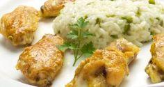 Receta de Alitas de pollo al curry con arroz