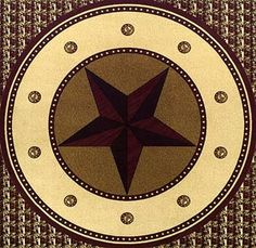 Tooled Leather Star 8 Round Rug In 2019 Western Decor