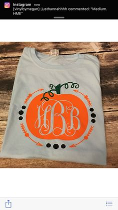 Hey, I found this really awesome Etsy listing at https://www.etsy.com/listing/469515183/monogrammed-pumpkin-tshirt-long-sleeve