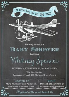 Vintage Airplane Baby shower Invitation. by ThePaperWingCreation, $15.00
