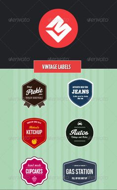 Vintage Badges  #GraphicRiver         A collection of six vintage / retro feel badges. These would be prefect to use as a company or personal logo or to promote our products and services using a vintage or retro theme.  	 All the badges are made as vector objects and are provided in an Illustrator format. They can be scaled to any size and edited in any way you like.  	 All text editable and the fonts used are free. I've provided links to them in the help file included.  	 If you'd like any…