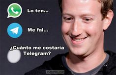 Mark Zuckerberg pensando en Telegram