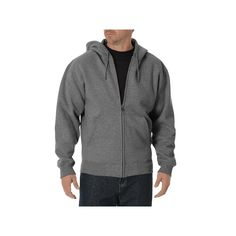 Big & Tall Dickies Full-Zip Hoodie, Men's, Size: Xl Tall, Grey Other