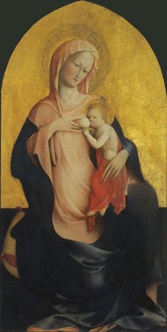 The Athenaeum - Madonna and Child (Masolino da Panicale - ) Renaissance Kunst, Renaissance Paintings, Italian Renaissance, Madonna Und Kind, Madonna And Child, Fra Angelico, Early Christian, Christian Art, Religious Icons