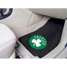 Boston Celtics NBA 2-Piece Printed Carpet Car Mats (18x27)