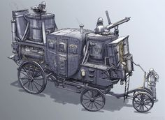 Precinct Ripper Town – Armored Steam Carriage, Francis Goeltner on ArtStation at… Steampunk Circus, Arte Steampunk, Steampunk Weapons, Dirigible Steampunk, Fantasy Rpg, Fantasy Wizard, Dark Fantasy, Environment Concept Art, Character Design References