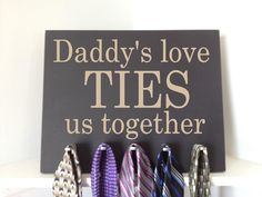 Personalized Handcrafted Tie Holder Perfect Gift For Your Father Grandfather