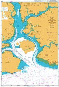 British Admiralty Nautical Chart 4043: Malaysia and Singapore, Kuala Johor and Sungai Johor