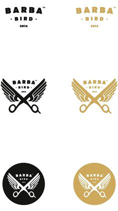 salon logo inspiration - Barba Bird Identity on Behance Barber Logo, Barber Shop, Identity Design, Logo Design, Design Shop, Barbershop Design, Wings Logo, Branding, Design Graphique