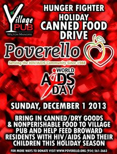 After the Candlelight Vigil, be sure to stop by the Village Pub, bring a canned good to help feed local families affected by HIV/AIDS.