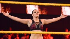 Shayna Baszler is out to punish Shotzi Blackheart after the NXT newcomer tossed her from last week's Battle Royal. Rousey Wwe, Shayna Baszler, Queen Of Spades, Battle Royal, Badass Women, Superstar, Bikinis, Swimwear, Wrestling