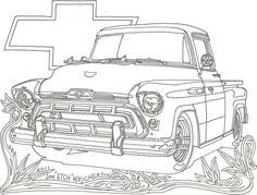 Old Pickup Truck Coloring Pages Bullet Journal Drawing Old Ford
