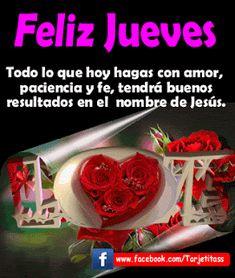 Hermosas tarjetas FELIZ JUEVES, imágenes y tarjetas animadas para compartir en facebook - Tarjetitass.com
