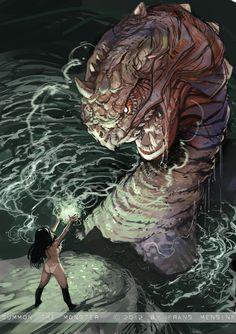 Summon the Monster by *FransMensinkArtist on deviantART