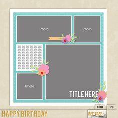 Freebie - Bee Tree Studios - happy birthday template