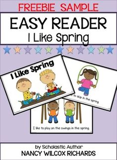 """This freebie is part of a larger product called """"Easy Reader: I Like Spring (3 Different Reading Levels for Primary Readers)"""".  It's the first level reader in the product - the easiest level for your young readers. The full product is a spring reader that has 3 LEVELS OF DIFFERENTIATION for your students."""