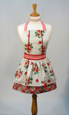 Cute Bib Apron, Designer Styled, Full Apron By Swankyplace