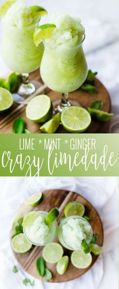 Crazy Limeade | minty lime drink recipe | minty limeade | Costa Rican inspired recipes | homemade limeade recipes | non-alcoholic drink recipes | limeade recipe || Oh So Delicioso #limeade #mintlimeade #costaricancuisine