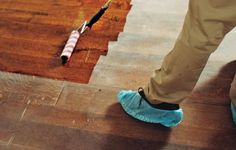 Are your hardwood floors covered in scratches? If they don't go all the way through to the wood, you can save time and money by applying a fresh coat of finish. Learn how to refinish your wood floors with this step-by-step guide from This Old House today! Old Wood Floors, Cleaning Wood Floors, Clean Hardwood Floors, Refinishing Hardwood Floors, Wooden Flooring, Floor Refinishing, Flooring Ideas, Laminate Flooring, Renovation Parquet