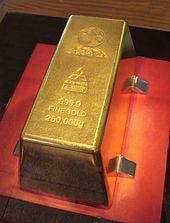 The world's largest gold bar has a mass of 250 kg. Toi museum, Japan.Gold…
