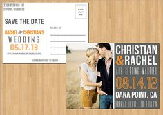 Save The Date Postcards - Save The Date Wedding Invitations - PRINTABLE
