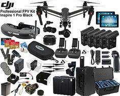 "DJI Inspire 1 Pro Quadcopter Black Edition with FPV ""Eagle Eye"" Package: Includes 2 Controllers, 2 iPads, FATSHARK Attitude V2 FPV Goggles, Osmo Handle Kit, 4x TB48 Batteries and more... - http://www.midronepro.com/producto/dji-inspire-1-pro-quadcopter-black-edition-with-fpv-eagle-eye-package-includes-2-controllers-2-ipads-fatshark-attitude-v2-fpv-goggles-osmo-handle-kit-4x-tb48-batteries-and-more/"