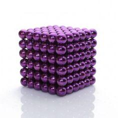 Purple Bucky balls Magnets Supraballs, 216 neodymium sphere magnets, magnetic building education toys, 5mm in diameter.