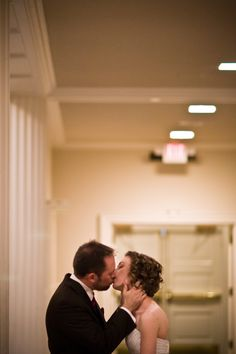 "I got on pinterest today - and this is what I saw - ME! My wedding photographer posted this photo with the following caption: ""This special couple not only did a first look, but also a first kiss. They waited till their wedding to have their first kiss, and it was a sweet moment indeed."""