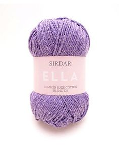Add a sparkle to your summer knits with SIRDAR Ella summer luxe cotton blend dk. Many colours available at www.ariverofyarn.ca