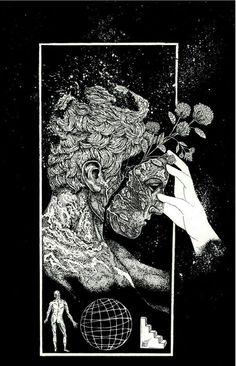 Illustration for Deafheaven merch by Cloven Hoov.